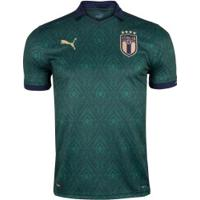 Camisa Itália Iii 2019 Puma - Masculina - Verde Esc/Azul Esc