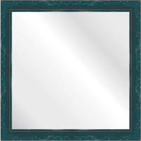 Espelho Brilho Rococo Azul 36X36Cm