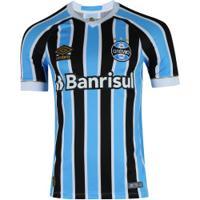 Camisa Do Grêmio I 2018 Umbro Com Patrocínio - Masculina - Azul Claro