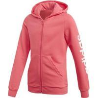 Jaqueta Infantil Adidas Com Capuz Yg E Lin Fz Hd Feminina - Feminino