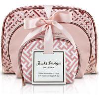 Kit De Necessaire Com 3 Peças Jacki Design Abc17380