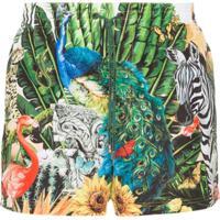 Dolce & Gabbana Short De Natação Giardino Animal Print - Hhih3 Multi