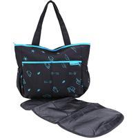 Bolsa Maternidade Jacki Design Mama & Me Feminina - Feminino-Preto+Azul
