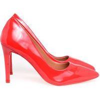Scarpin Salto Alto Sapato Feminino Lançamento Varias Cores Vermelho