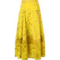 Rosie Assoulin Saia Midi Floral - Amarelo