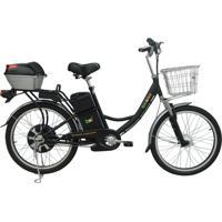 Bicicleta Elétrica Biobike, Quadro Em Aço, Modelo Confort - Prata