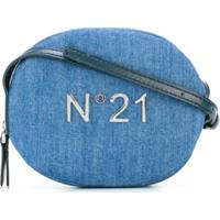 Nº21 Kids Bolsa Tiracolo Jeans Com Logo - Azul