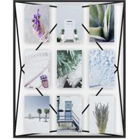 Porta-Retrato Prisma Multi Fotos 10X15 Preto
