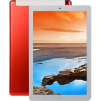 Tablet 10,1 Polegadas Ram 8Gb + 128Gb 4G-Lte Tela Ips Hd - Vermelho