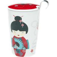 Caneca De Porcelana Parede Dupla Gueisha Red 300 Ml Talchá