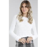Suéter Feminino Em Tricô Off White