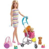 Boneca Barbie Carrinho De Cachorrinhos Com Acessórios - Feminino-Colorido