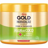 Creme De Tratamento Niely Gold Hidratação Milagrosa Água De Coco 430G - Unissex-Incolor