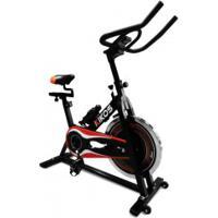 Bicicleta Ergométrica Spinning Kikos F5 - Preto/Vermelho
