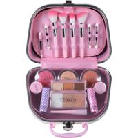 Maleta De Maquiagem Fenzza Fz40002 Make Up Pin Up Lettre Collection Rosa - Tricae