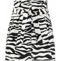 The Attico Saia Com Estampa Zebra - Preto