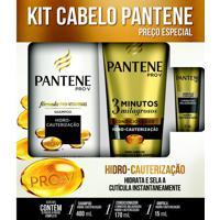 Kit Shampoo + Condicionador Pantene Hidro Cauterização - Grátis Ampola 1 Unidade
