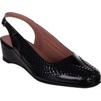 Sapato Feminino Marinucci Sb15 Preto Verniz