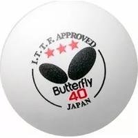 Bola De Tênis De Mesa 3 Estrelas Butterfly - Cx3 - Unissex