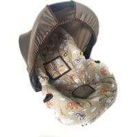 Capa Para Bebê Conforto Alan Pierre Baby 0 A 13 Kg Safari Marrom