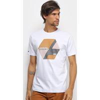 Camiseta Hd Color Block Masculina - Masculino-Branco