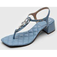 Sandália Dumond Corrente Azul