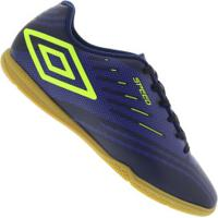 Chuteira Futsal Umbro Speed Iv Ic - Adulto - Azul Esc/Azul