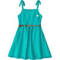 Vestido Em Laise- Verde Água- Primeiros Passosbrandili