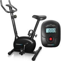 Bicicleta Ergométrica Podiumfit V100 - Magnética 8Cargas - Max120Kg Silenciosa - Unissex-Preto