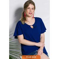 Blusa Azul Royal Detalhe Frontal
