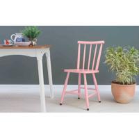 Cadeira Jantar Mimo Laqueada Rosa Bebê 44X41,5X81Cm