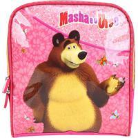 Lancheira Escolar Infantil Luxcel Masha E O Urso Feminina - Feminino-Rosa