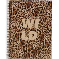 Caderno Espiral Capa Dura Estampado Animal Print 28,5 Cm X 21 Cm Caramelo