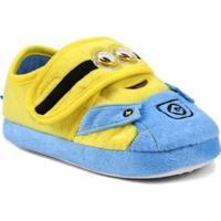 Pantufa Infantil Para Menina Meu Malvado Favorito Minions - Azul/Amarelo