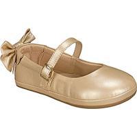 Sapato Boneca Em Couro Com Laã§O- Bege- Kidskimey