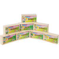 Kit Sequência Lógica Carlu Com 8 Jogos E 128 Peças Colorido