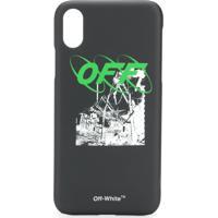 Off-White Logo Print Iphone X Case - Preto