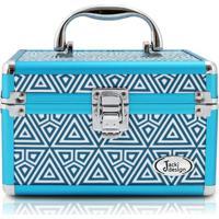 Maleta Multiuso Jacki Design De Poliéster + Alumínio - Feminino-Azul Turquesa