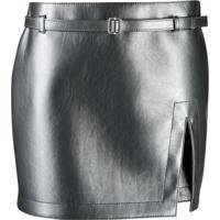 Philosophy Di Lorenzo Serafini Slit Mini Skirt - Cinza