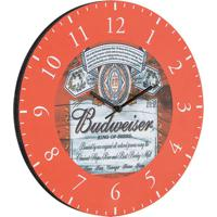 Relógio De Parede Budweiser Vermelho