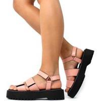 Sandália Birken Damannu Shoes Julie Feminina - Feminino-Rosa