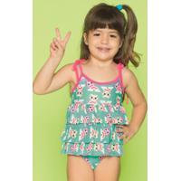 Maiô Kids Coruja Arco Iris 110400399 Puket