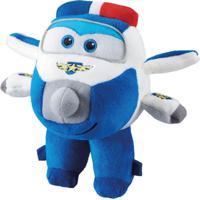 Avião De Pelúcia - 17 Cm - Super Wings - Paul - Fun - Feminino-Incolor