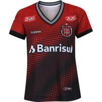 Camisa Do Brasil De Pelotas I 2018 Topper - Feminina - Vermelho/Preto