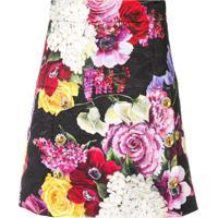 Dolce & Gabbana Saia Floral Com Aplicação - Rosa