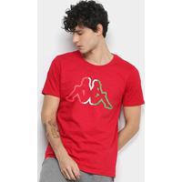 Camiseta Kappa Flag Masculina - Masculino-Vermelho