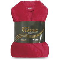 Roupão Microfibra Flannel Classic Adulto - Appel - Vermelho