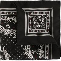 Dolce & Gabbana Echarpe Com Estampa De Coroa - Preto