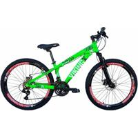 Bicicleta Vikingx Tuff 25 Aro 26 Freio A Disco Bike Neon - Unissex