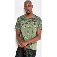 6ec9fe00cd Camiseta Camuflada Ecko Manga Curta Masculina - Masculino